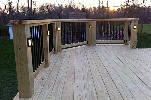 120 volt deck post lights