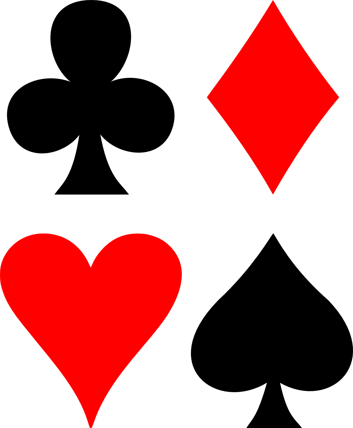 4 suits in a deck of cards