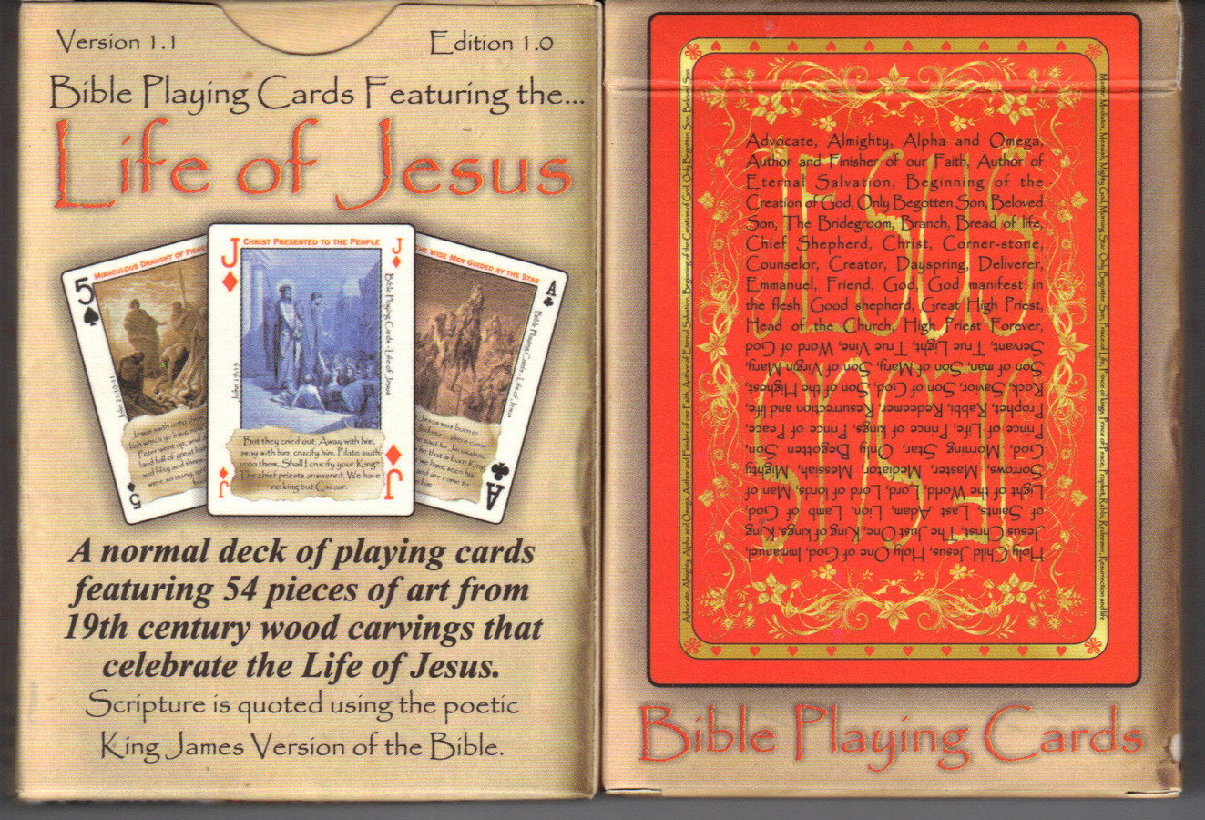 A deck of cards and the bible