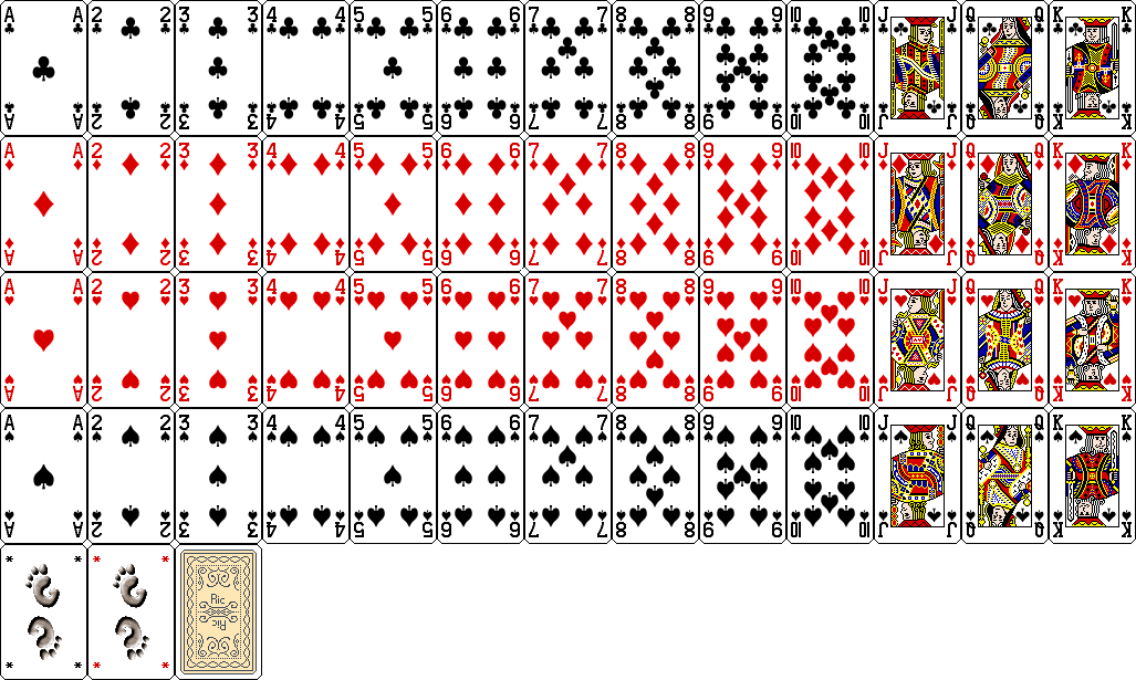 A deck of cards contains