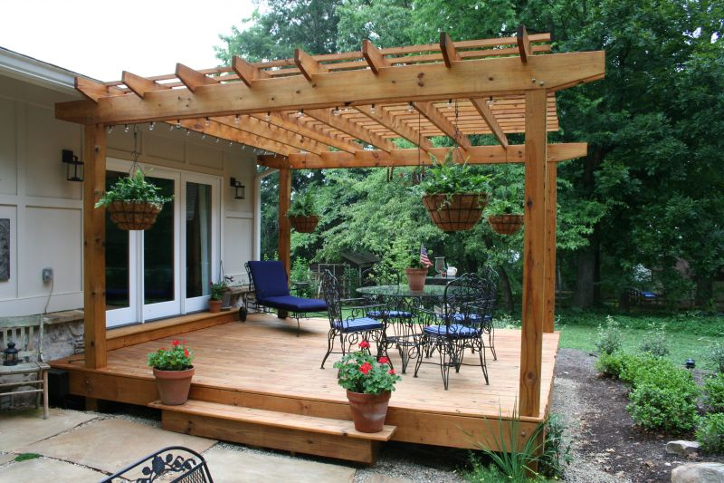 Back deck with pergola