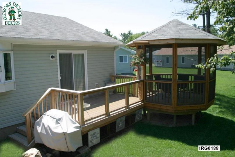 Build deck gazebo
