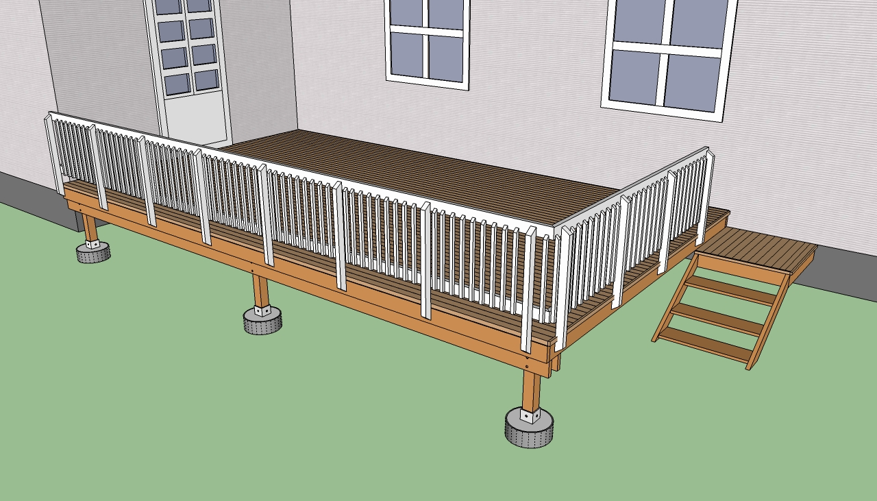 Build deck steps instructions