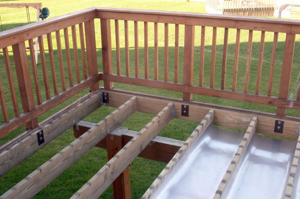 Building a raised deck with roof