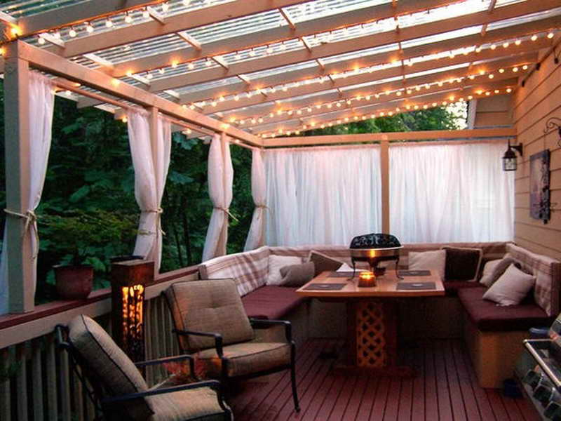 Cheap deck cover ideas