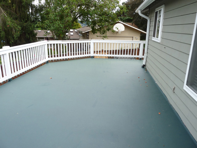 Coating a deck