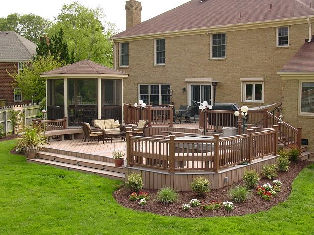 Composite deck design pictures