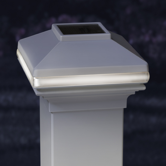 Fiberglass Light Post : Deck post cap lights solar design and ideas