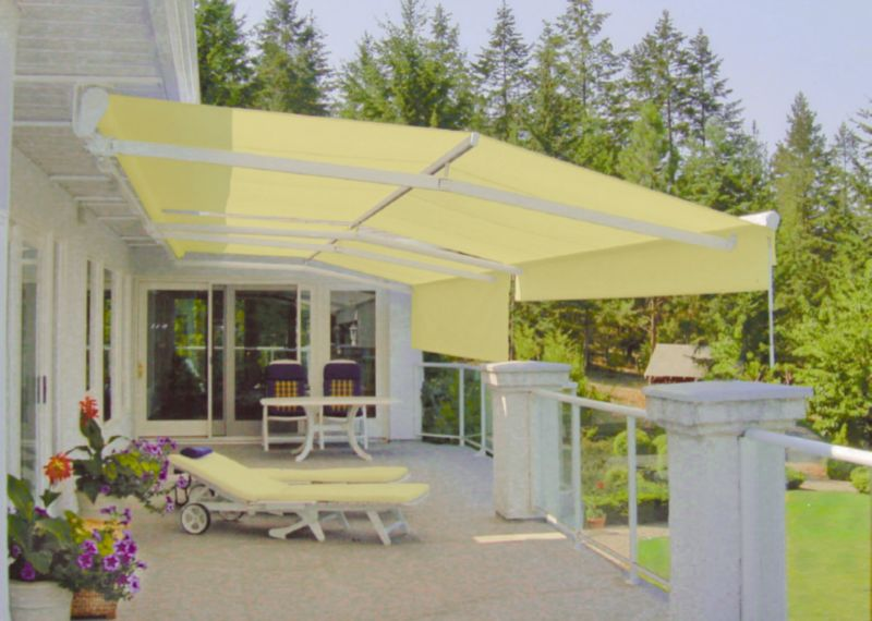 Deck and patio awnings