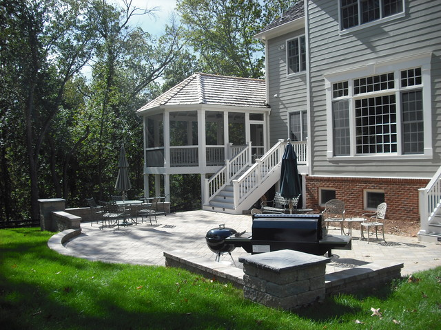 Deck and patio combinations