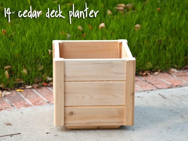 Deck and patio planters
