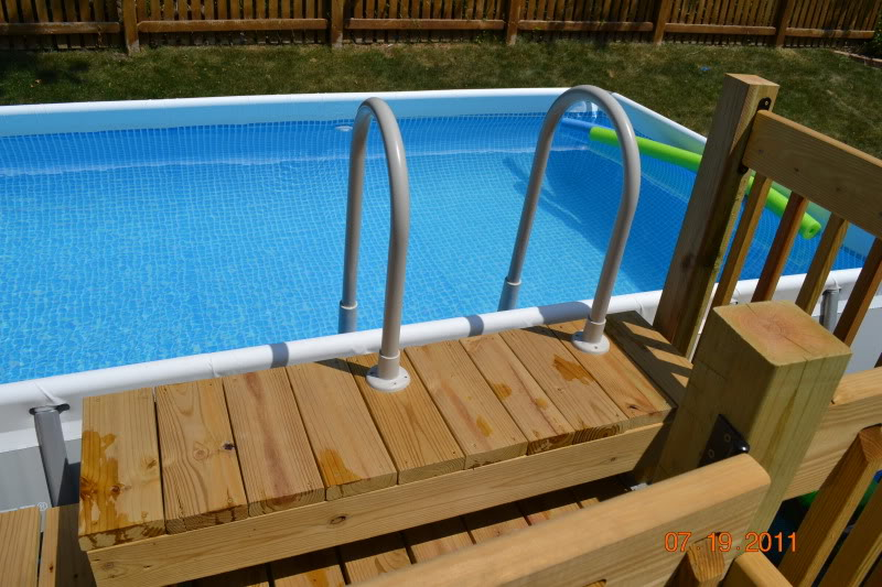 Deck around intex ultra frame pool