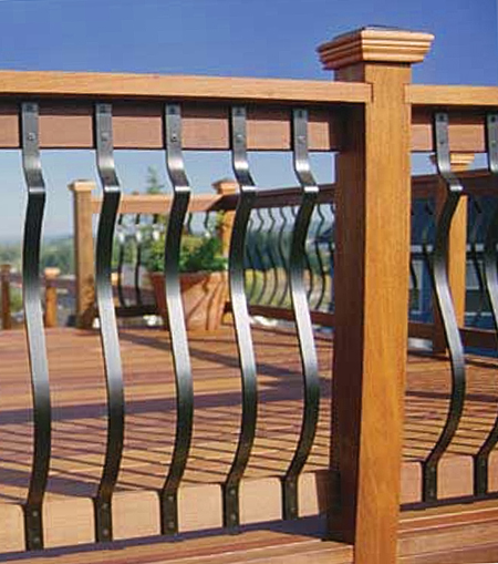 Deck balusters black