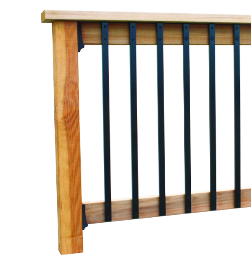 Deck balusters face mount