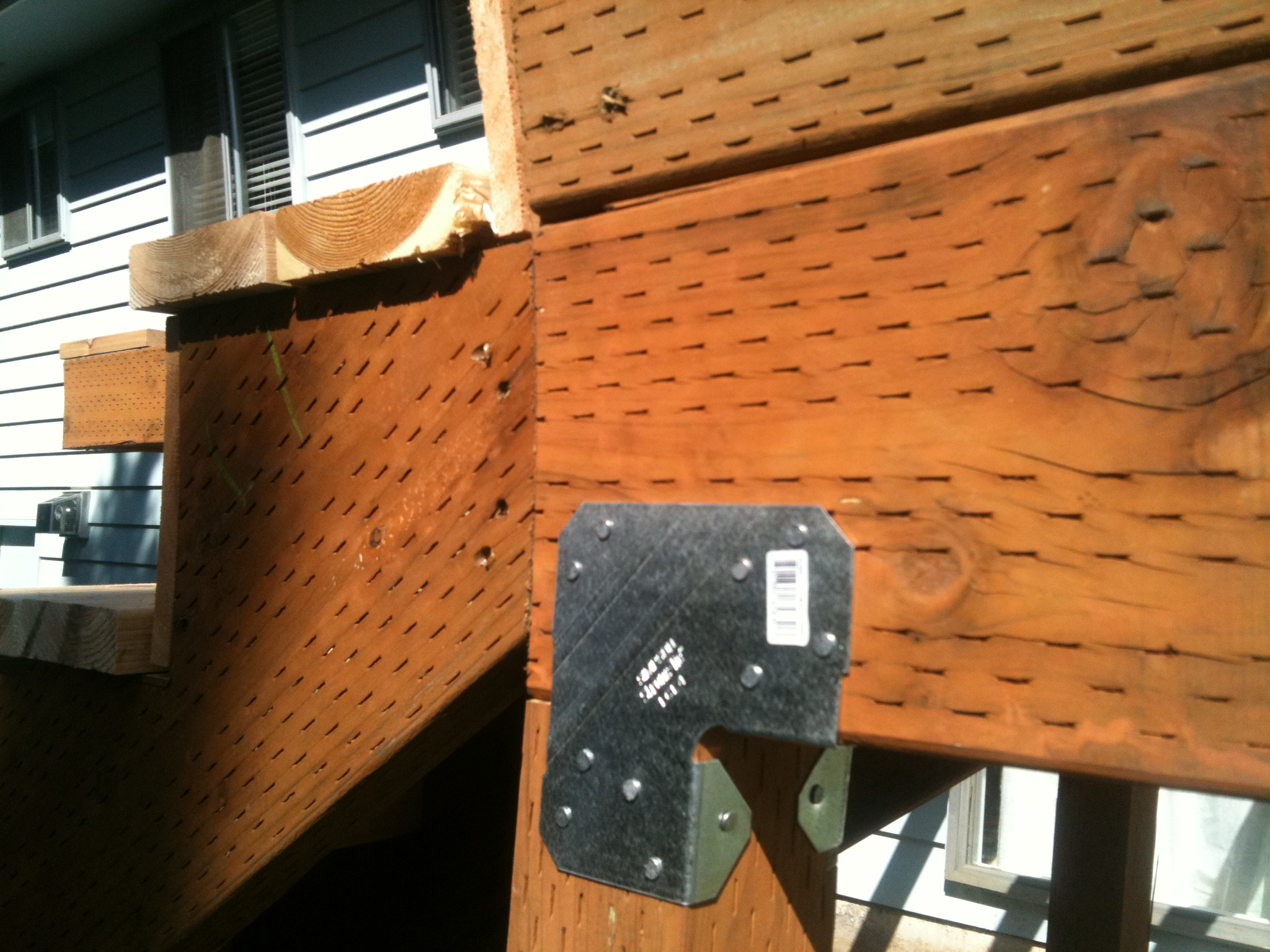 Deck beam hardware