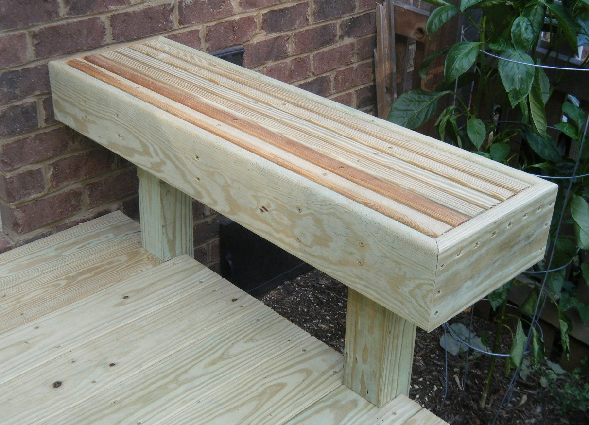 Deck bench designs images