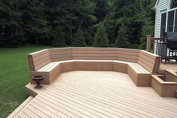 Deck bench pictures ideas