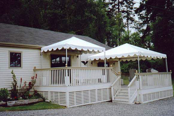 Deck canopy tent