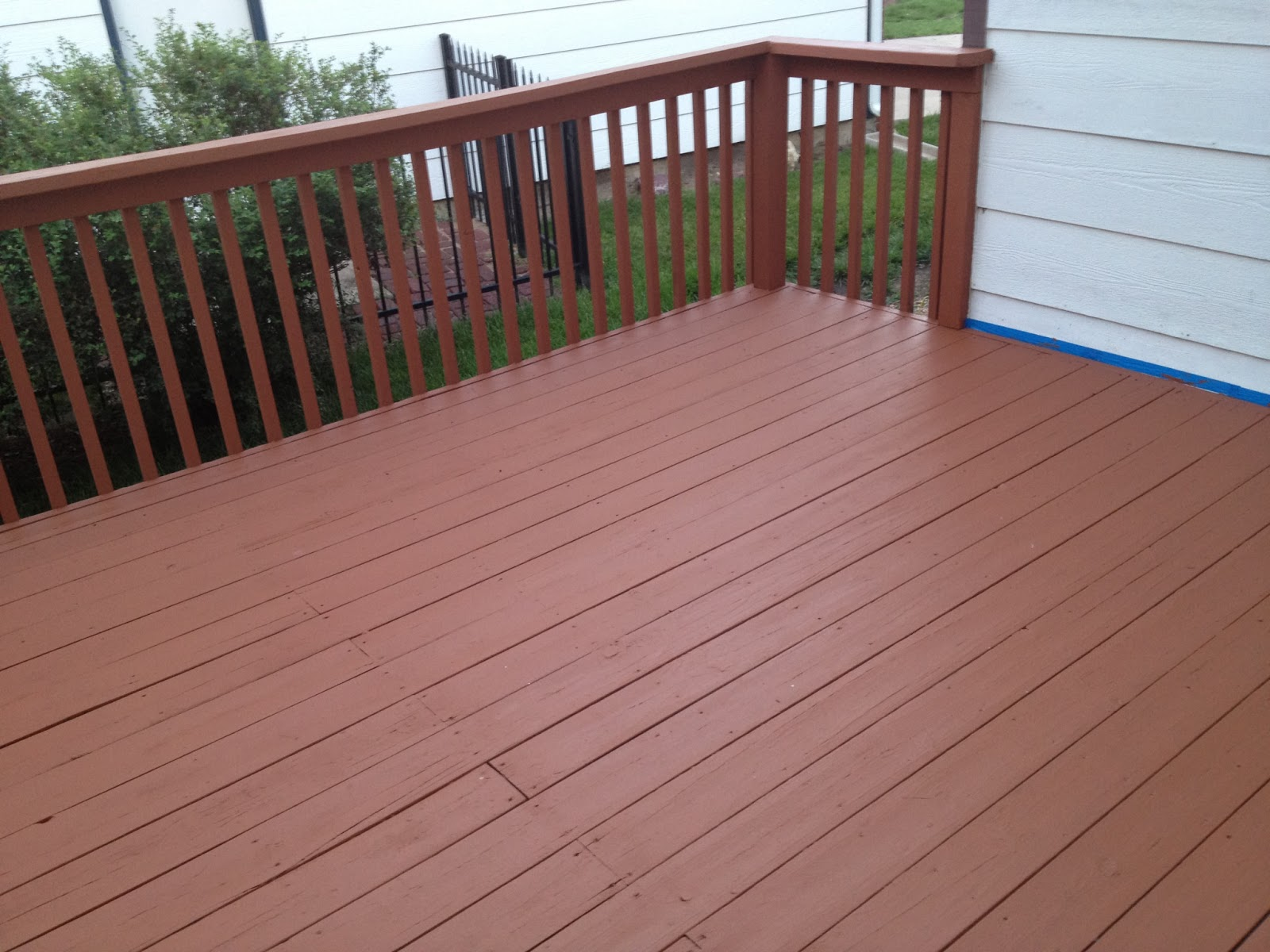 Deck cover up paint