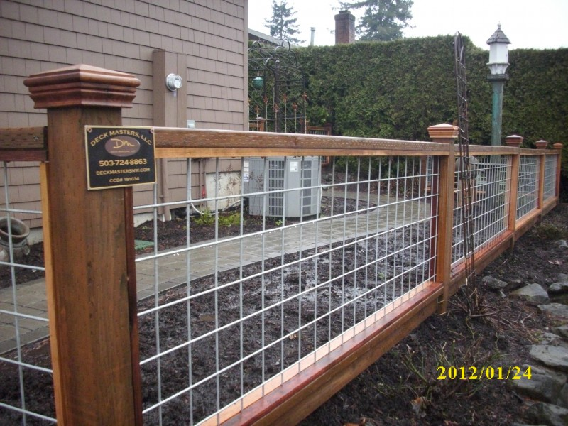 Deck fencing wire