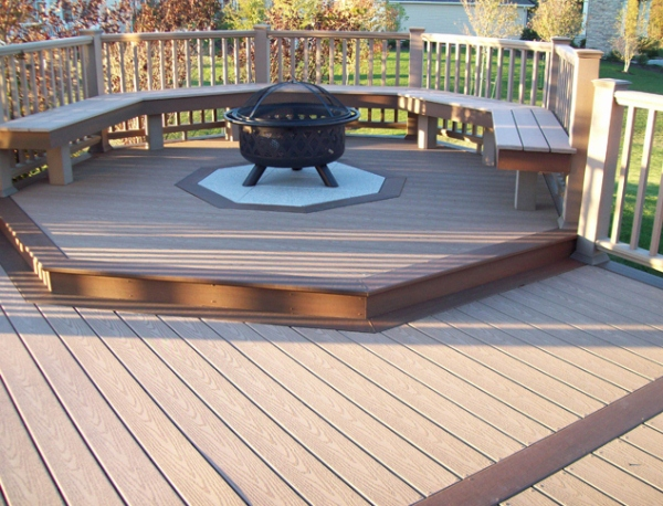 Deck fire pit pictures