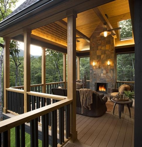Deck fireplace