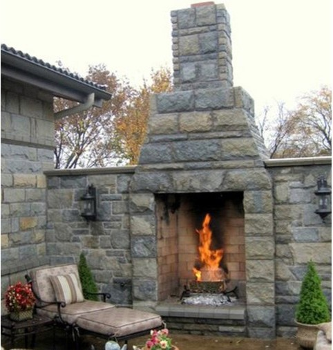 Deck fireplace kit