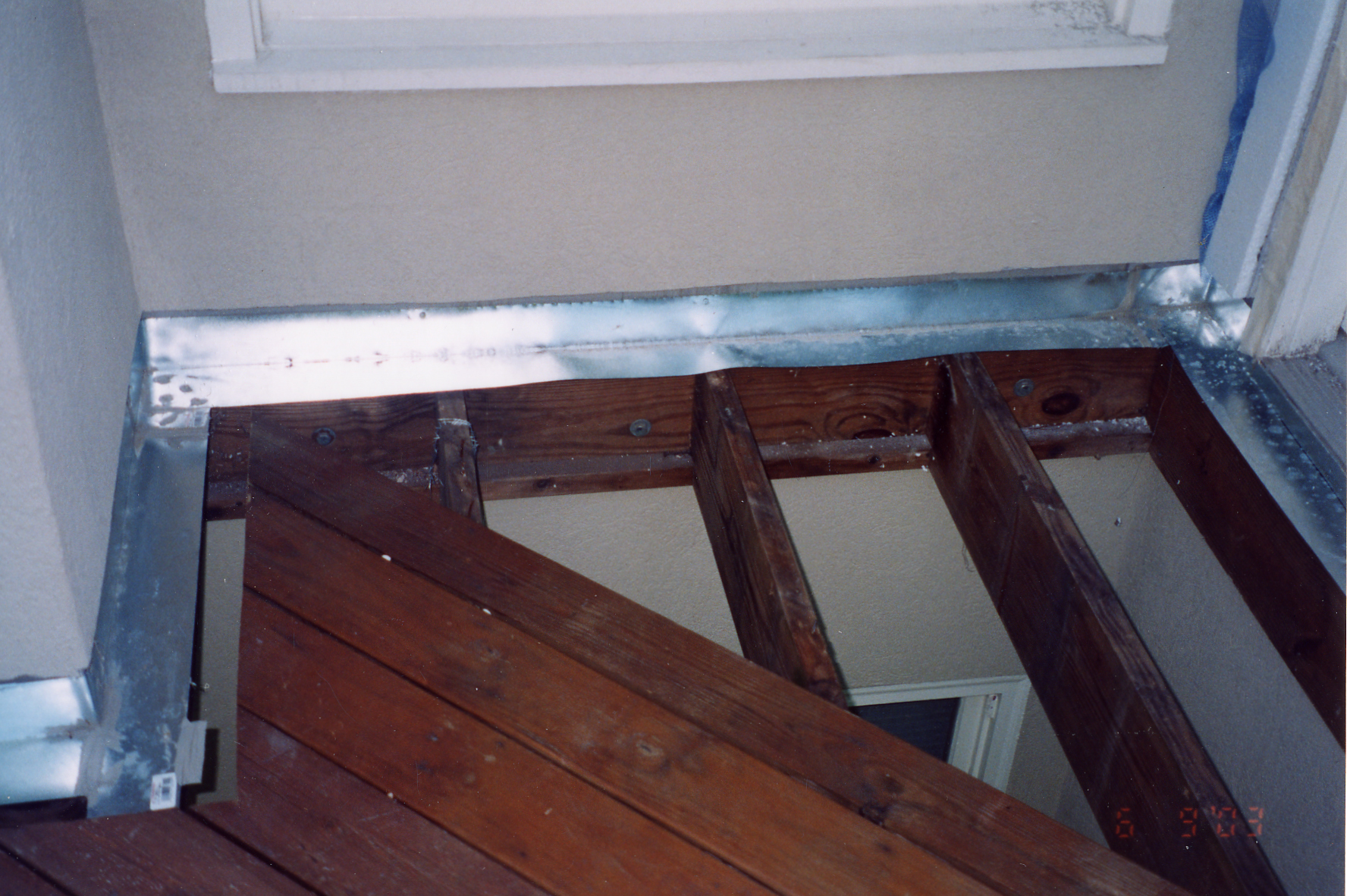 Deck flashing installation