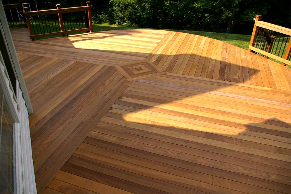 Deck flooring patterns