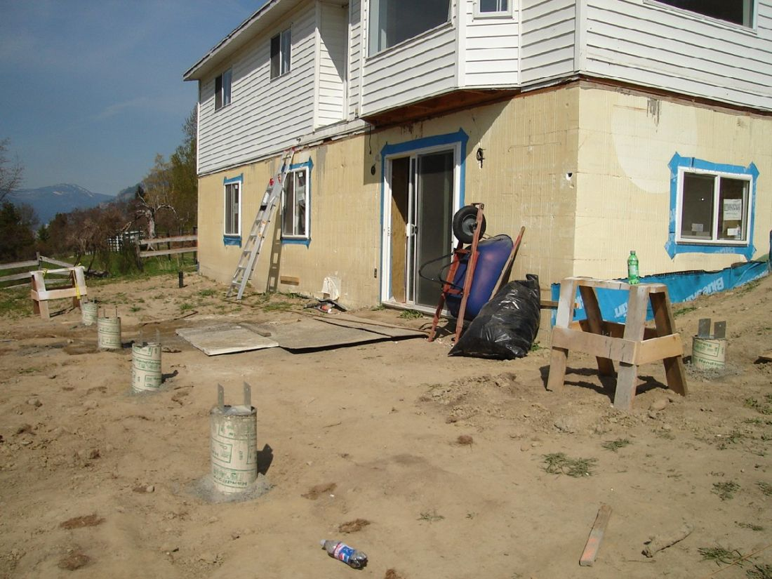 Deck footings ontario building code