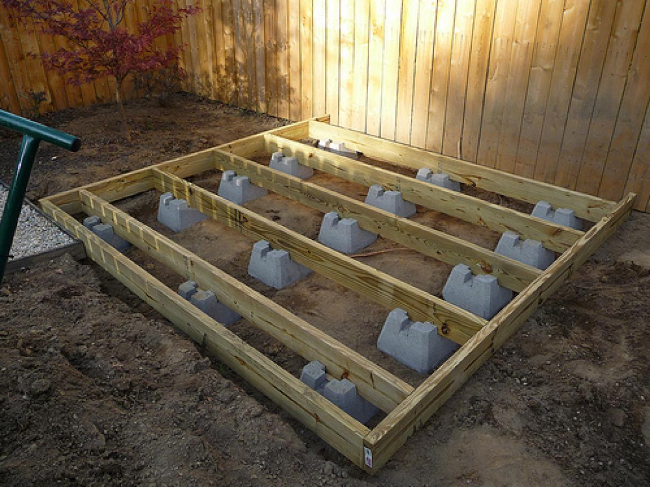 Deck foundation piers