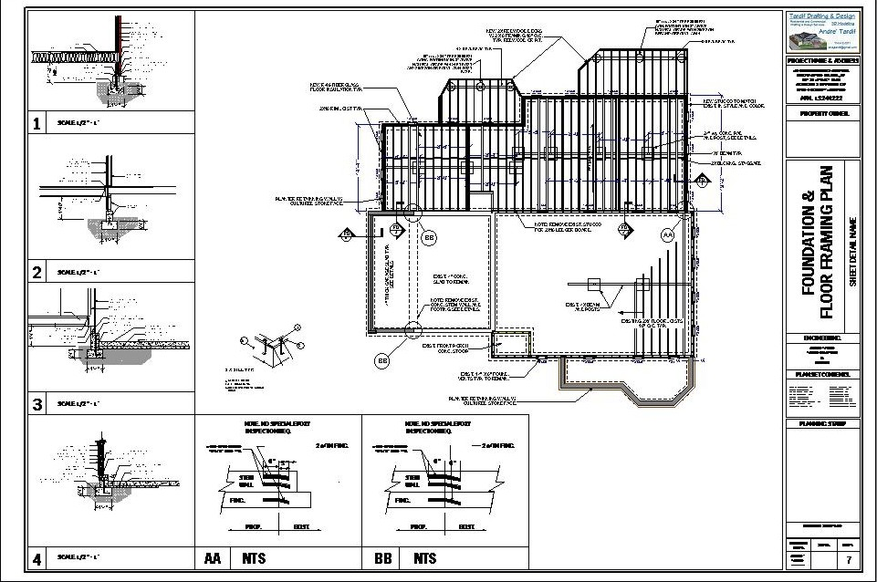 Deck foundation plans