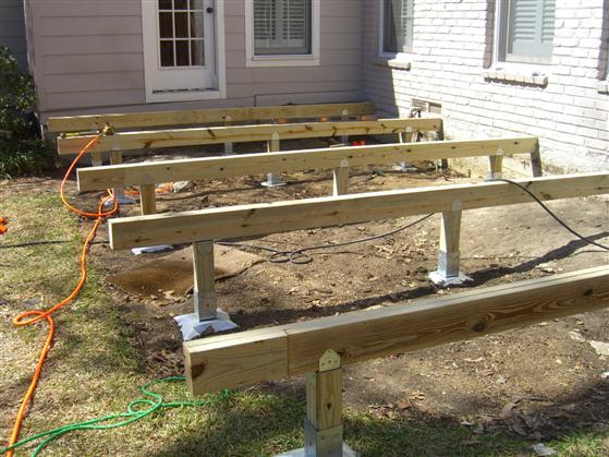 Deck foundation posts