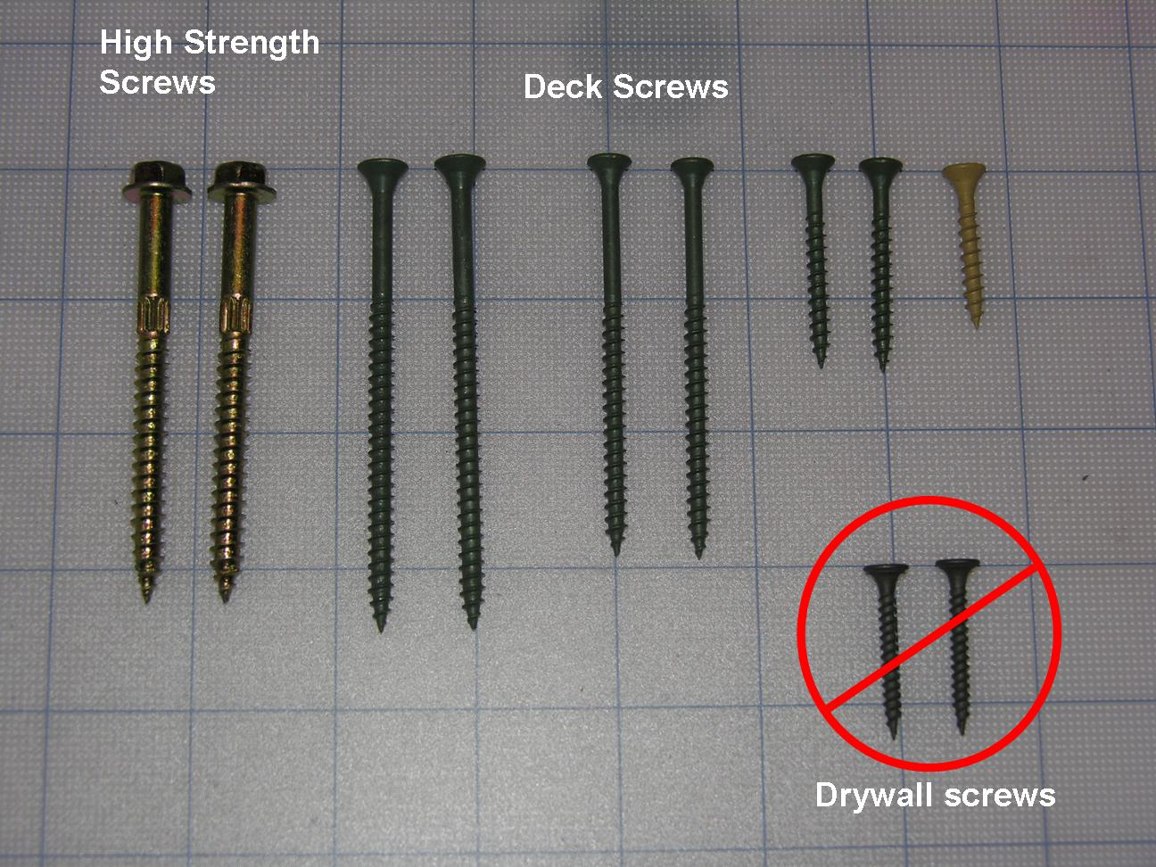 Deck framing screws