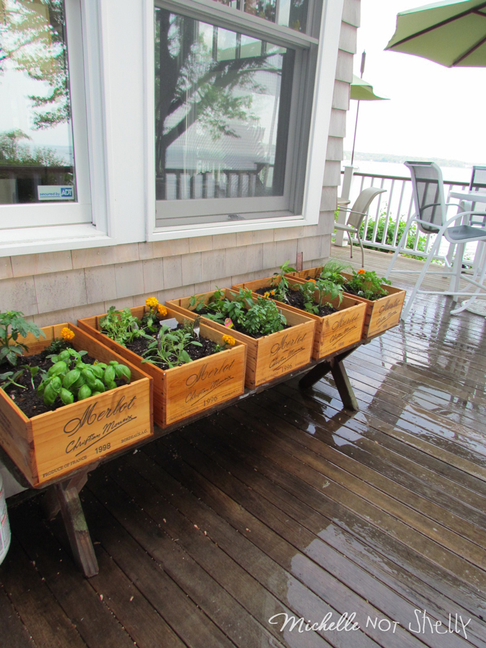 Deck garden box designs