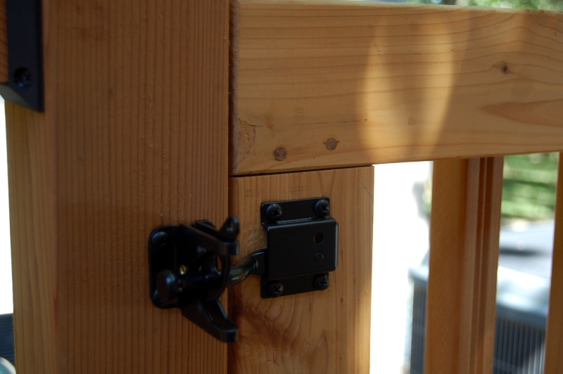 Deck gate latch