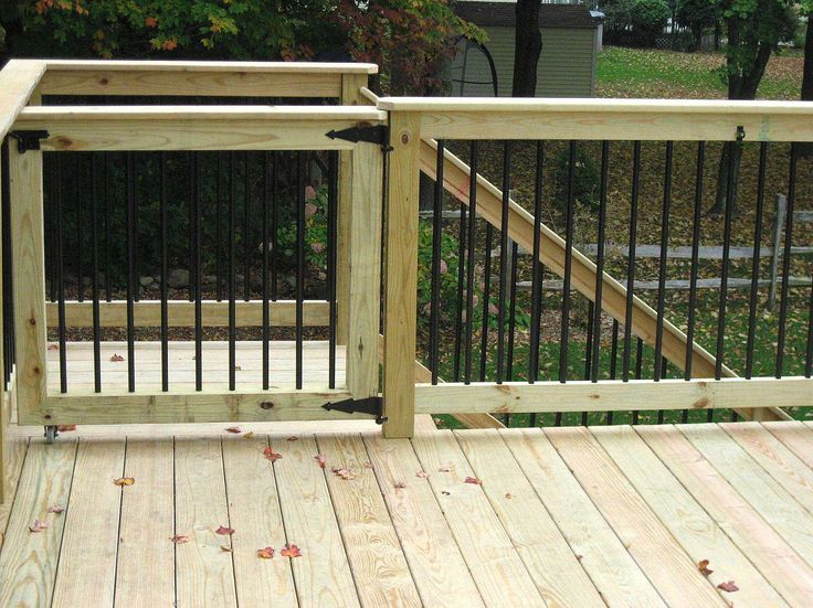 Deck gates for pets