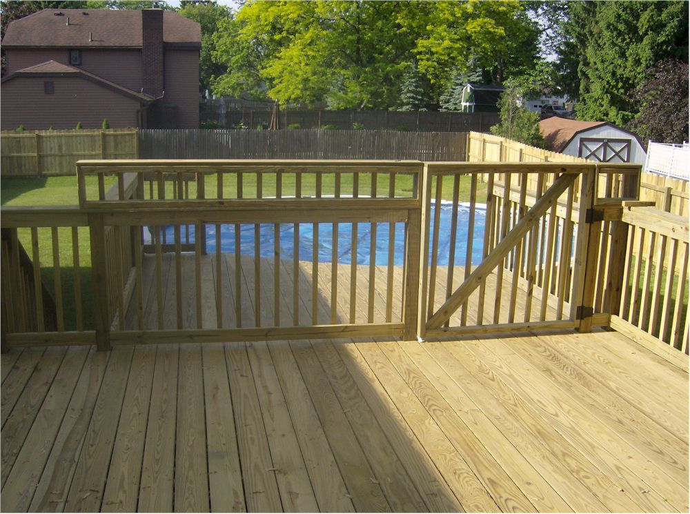 Deck gates for pools