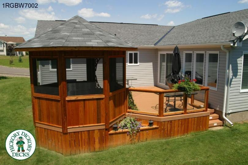 Pool deck with gazebo | Deck design and Ideas
