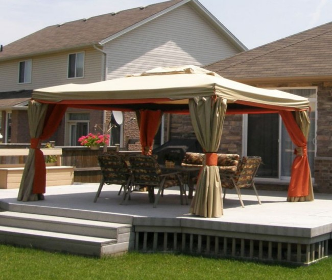 Deck gazebos and canopies
