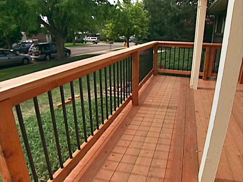 Deck handrail designs