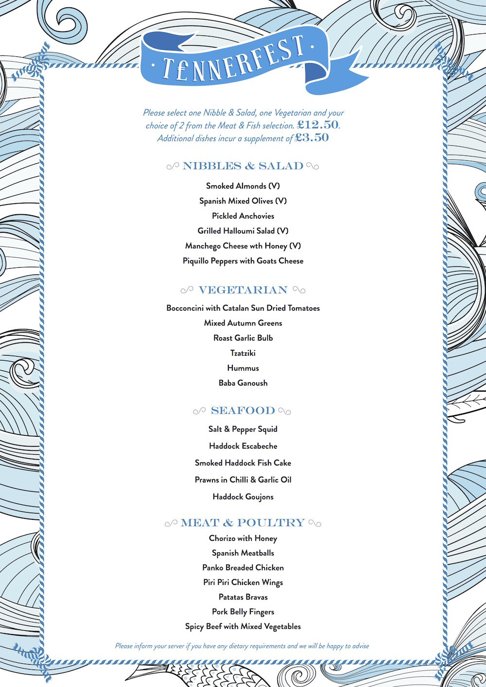 Deck house menu