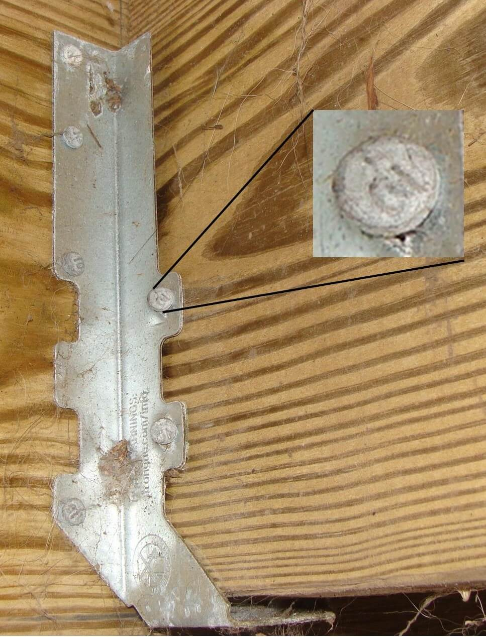 Deck joist hanger nails