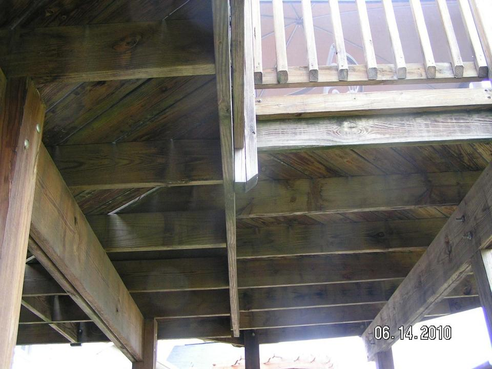 Deck joist to beam connection deck design and ideas for Balcony joists