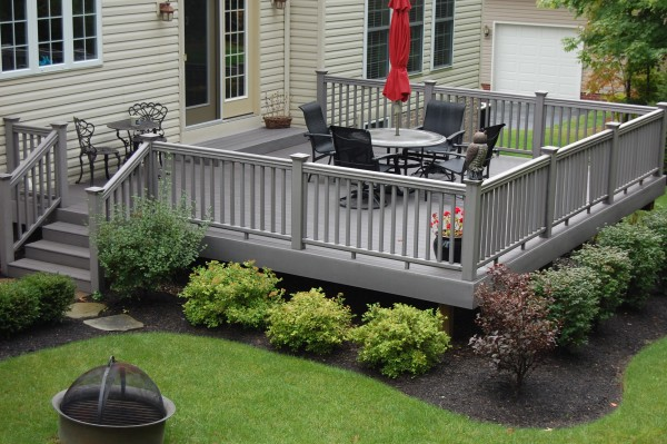Deck landscaping images