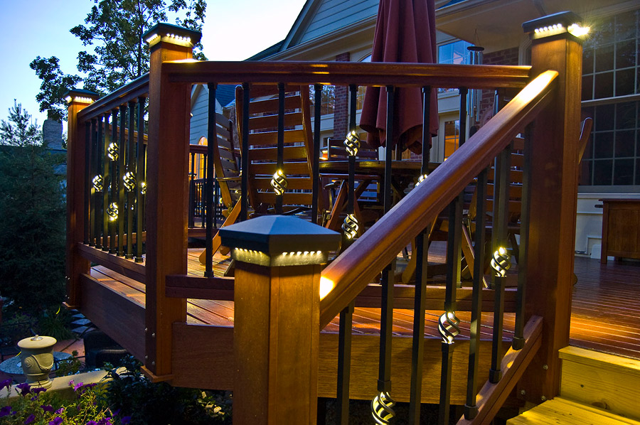 Deck lighting images