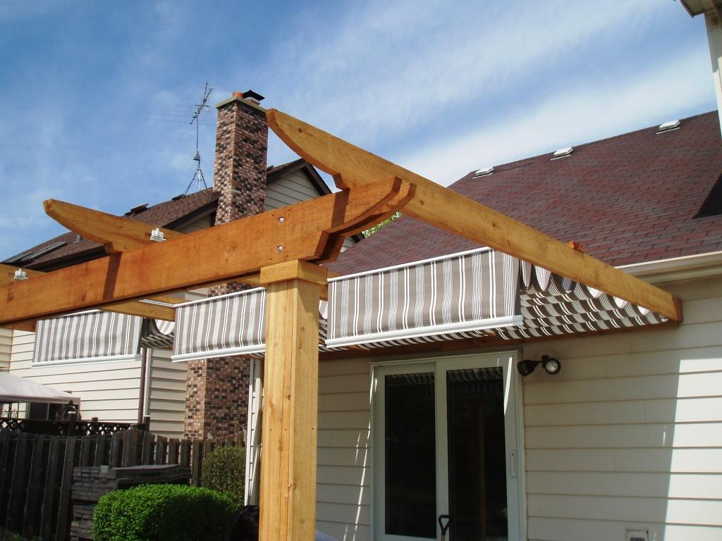 Deck mounted pergola