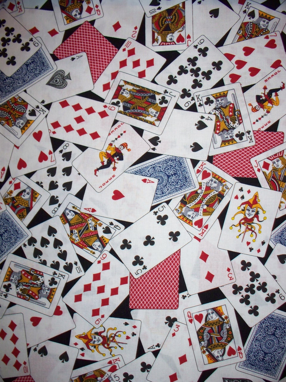 Deck of cards fabric