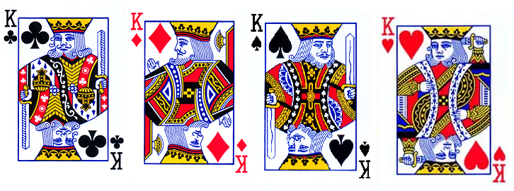 Deck of cards king without mustache