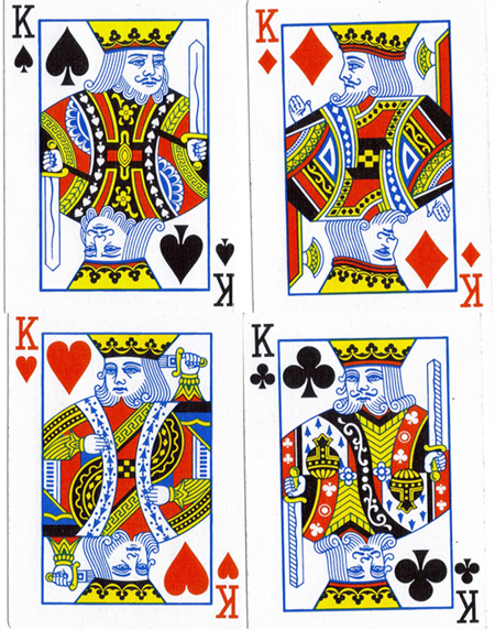 Deck of cards kings represent
